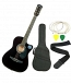 JXNG 6 Strings Acoustic Guitars(Black)