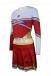 CH168 Custom Bright Red Cheer Costume