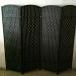 Room Divider Screen (Full Covered Black) For Sale!